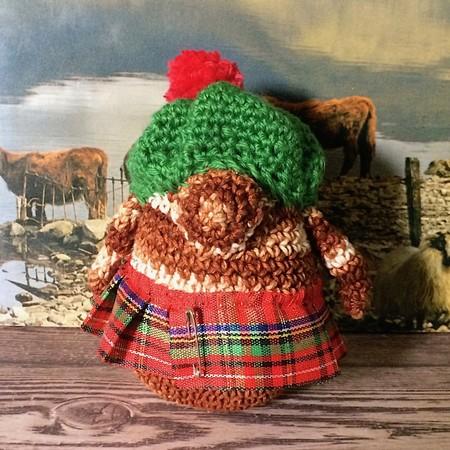 'Wee Jock MacHaggis' Hand Crocheted Scottish Gonk