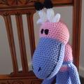 Gemma: Hand crocheted giraffe: OOAK, Soft, Present, washable
