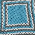 Granny Square Modern Vintage Baby Blanket