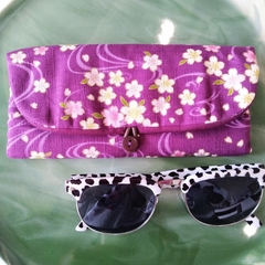PADDED POUCH - PURPLE - SAKURA / Glasses case
