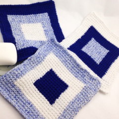 Handmade cotton washcloth perfect for a gift