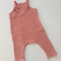 "Dusty Pink Muslin""Knot Overall"" size1"