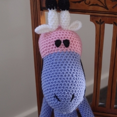 Gemma: Hand crocheted giraffe: OOAK, Soft, Present, washable