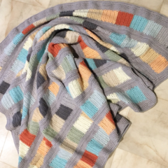 Baby or Lap reversible cotton heirloom blanket