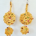 Handmade crochet earrings