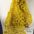 Hand Crochet, Spring/Summer Linen Scarf