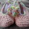 "crochet baby shoes ""dancing feet"" cotton and acrylic yarns 10-11cm foot ON SALE!"