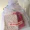 Set of cotton crochet eco friendly reusable makeup removal pads