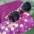 PADDED POUCH - PURPLE - SAKURA / Glasses case