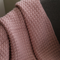 Hand Crocheted, Dusty Pink Modern Vintage Baby Blanket