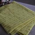 Hand Crochet Vintage style, Rabbit Tracks Baby Blanket
