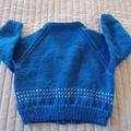 1-2 yrs: Hand knitted Cardigan, washable, unisex