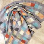 Baby or Lap reversible cotton heirloom blanket