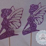Glitter Fairy cupcake toppers x 12 any colour.
