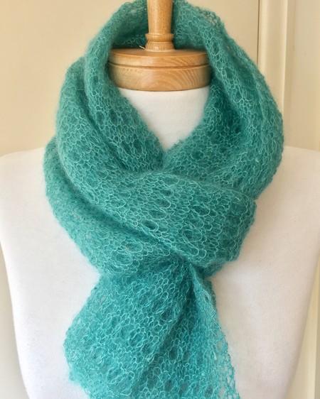 Mohair Silk blend handmade lace scarf