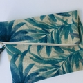 Boho luxe Tommy Bahama linen fold over clutch