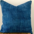 Vintage African indigo cushion cover 50cm x 50cm