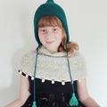 Pixie Bonnet. Teal