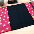 Patchwork Hearts A5 Fabric Journal Cover with Elastic Closure