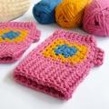 Crochet wrist warmers/fingerless gloves. Ladies OSFM/12yrs+
