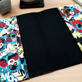 Superhero A5 Journal Cover with Elastic Closure
