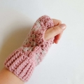 Crochet wrist warmers/fingerless gloves.