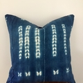 Vintage African indigo fabric cushion cover 50cm x 50cm