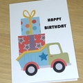 Kids Birthday card - dump truck