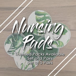Nursing Pads (Set of 3) | Washable Breast Pads | Reusable Ecofriendly Cloth En