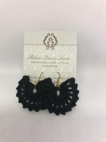 Crochet Fan Earrings
