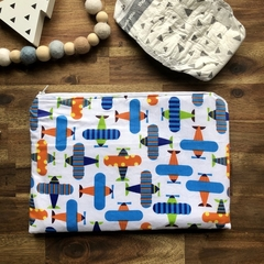Nappy Wallet - Clutch -Makeup -Planes Animals - Baby Boy Unisex