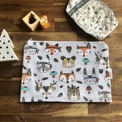 Nappy Wallet - Clutch -Makeup -Tribal Animals - Baby Girl Boy Unisex
