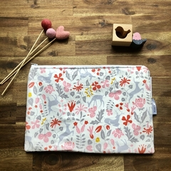 Nappy Wallet - Clutch -Makeup - Pink Deers - Baby Girl