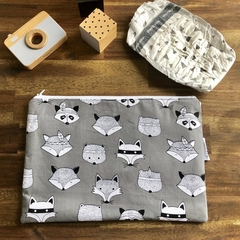 Nappy Wallet - Clutch -Makeup -Woodland Grey - Baby Girl Boy Unisex