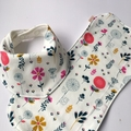 Nordic Floral Bandana Bib and Burp Cloth Set