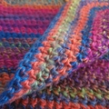 Kids poncho / adult cowl. Colourful stripes.