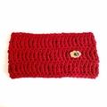 Crochet Cowl in Ruby Red