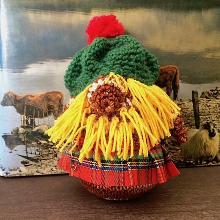 'Big Stewie MacHaggis' Hand Crocheted Scottish Gonk