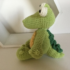 Kaan the Crocodile - crocheted softie toy