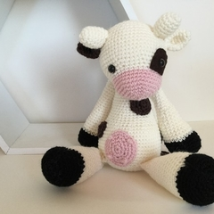Clementine Cow- crocheted softie