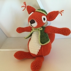 Cyril the Squirrel - Crocheted Toy