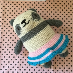 Petunia Panda - crocheted, knitted, softies