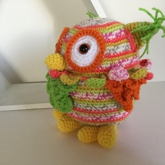 Ollie the Owl - crocheted softie toy