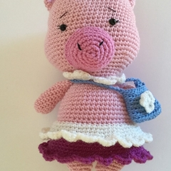 Emma the Pig - Crocheted Toy