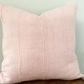 Pale pink African mud cloth cushion 48cm x 48cm