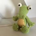 Kaan the Crocodile - crocheted softie toy