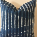 Genuine vintage African indigo cushion 50cm x 50cm