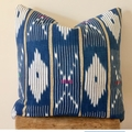 Vintage African Baoulé cushion denim blue 50cm x 50cm