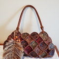 Macrame Feather handbag charm