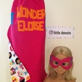 ~ Girl's Personalised Basic Superhero Set ~ MADE TO ORDER ~ Cape & Mask ~